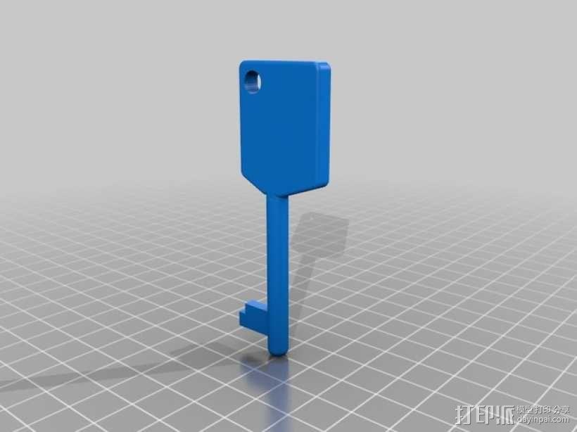 ERA钥匙 3D模型  图2