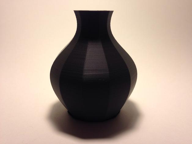 12面圆形花瓶 3D模型  图1