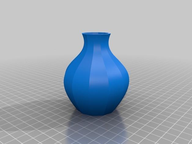 12面圆形花瓶 3D模型  图2