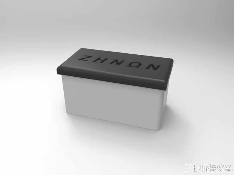 简易存储盒 3D模型  图1