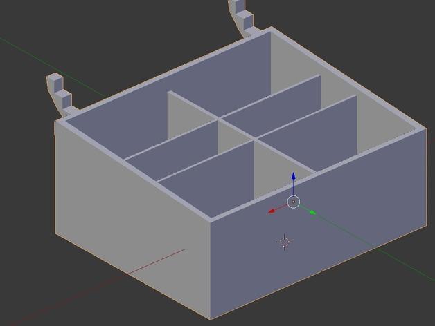 迷你钉板盒 3D模型  图1