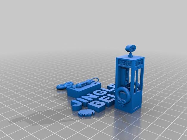 圣诞节公用电话亭 3D模型  图2