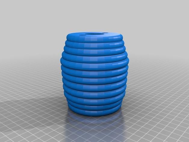 迷你庭院灯具 3D模型  图1