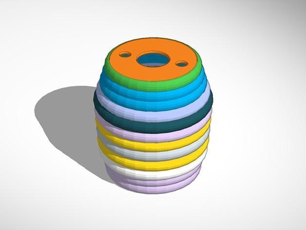 迷你庭院灯具 3D模型  图2