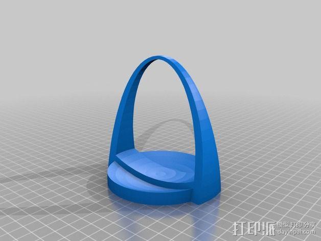 水晶吊坠架 3D模型  图2