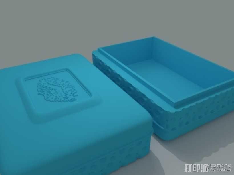 迷你首饰盒 3D模型  图1