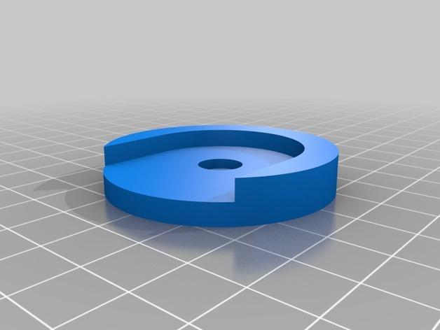 婴儿床护栏墙面固定环 3D模型  图2