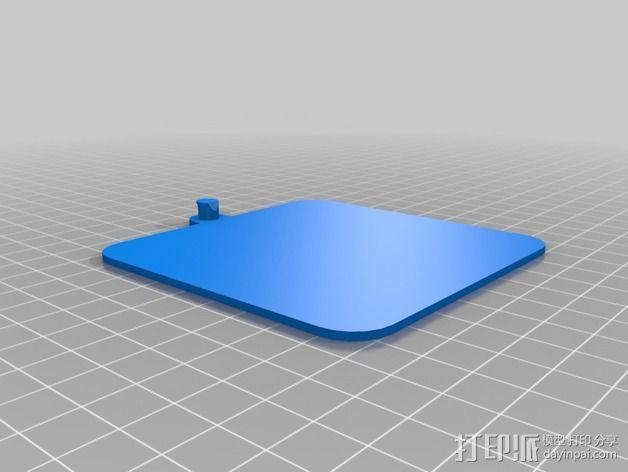 迷你墙壁挂钩 3D模型  图2
