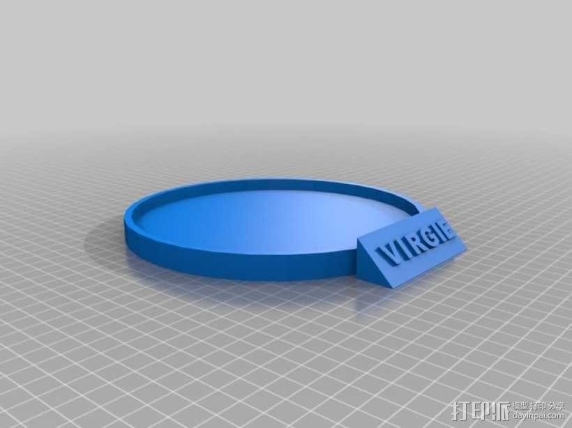 宠物水盆底座 3D模型  图2