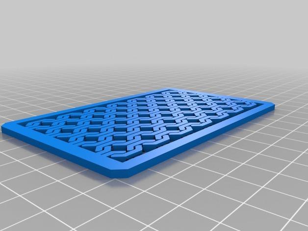 方形名片盒 3D模型  图2