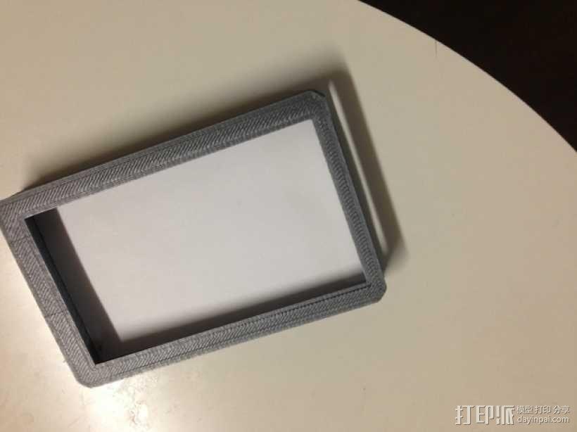 方形名片盒 3D模型  图1
