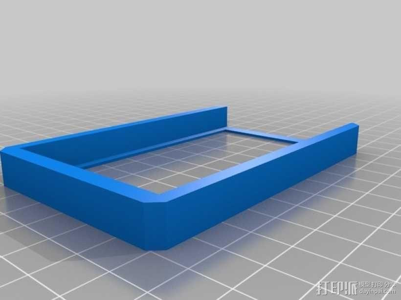 方形名片盒 3D模型  图3