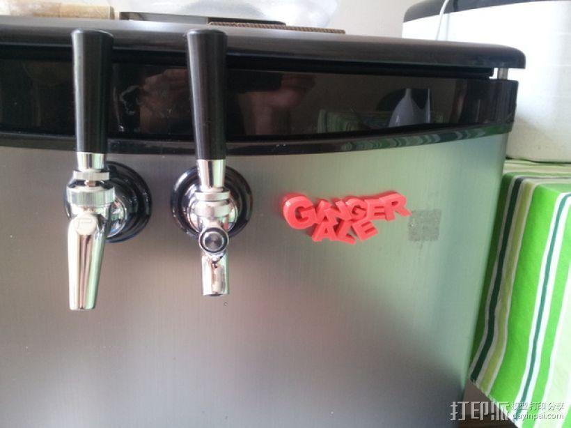 """""""Ginger ale""""冰箱贴 3D模型  图1"""
