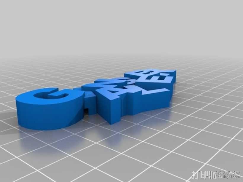 """""""Ginger ale""""冰箱贴 3D模型  图2"""
