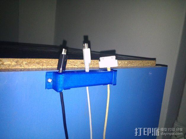 电线电缆夹 3D模型  图4
