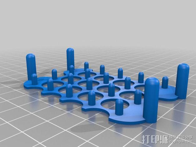 镂空肥皂架 3D模型  图2