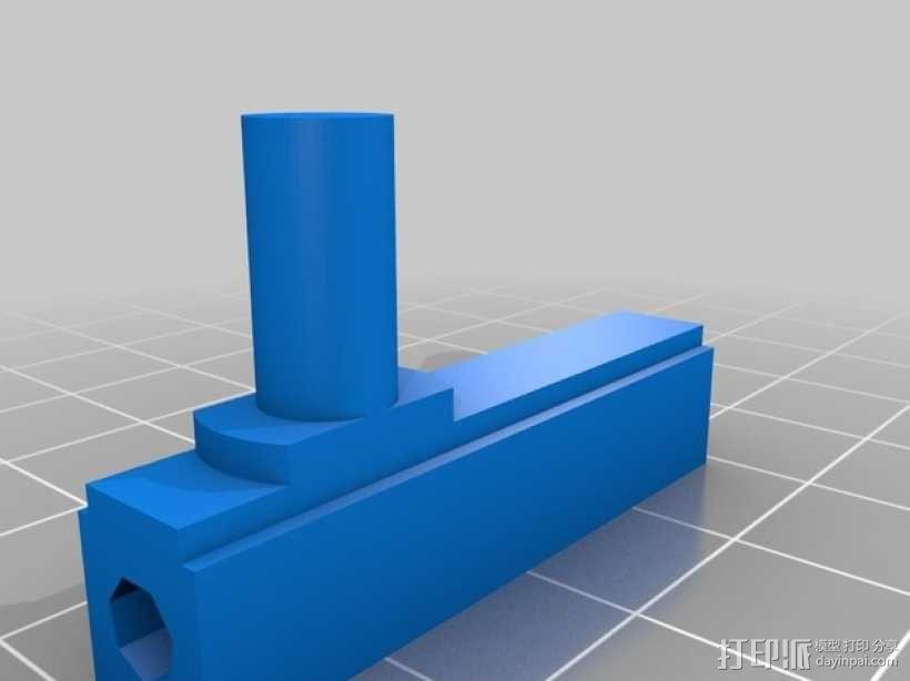 浴室门转轴 3D模型  图2