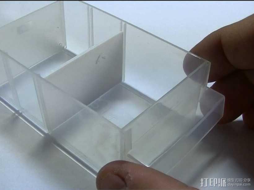 储物箱分隔板 3D模型  图1