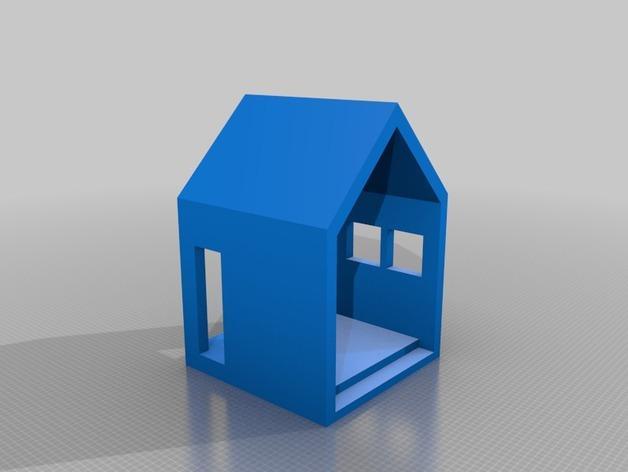 迷你小屋 3D模型  图1