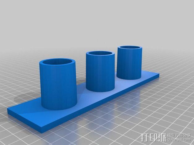 真空吸尘器配件架 3D模型  图2