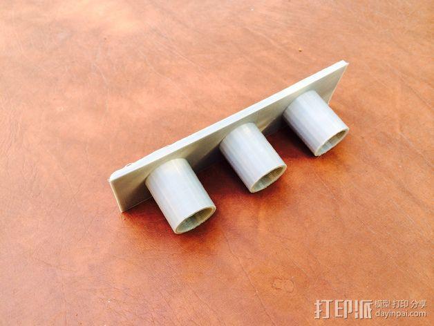 真空吸尘器配件架 3D模型  图5