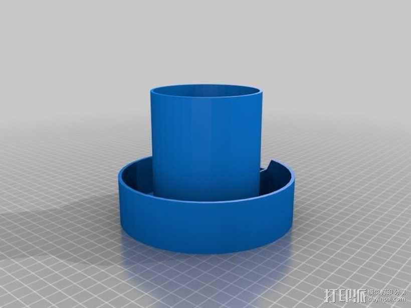 笔筒/SD卡盒 3D模型  图2
