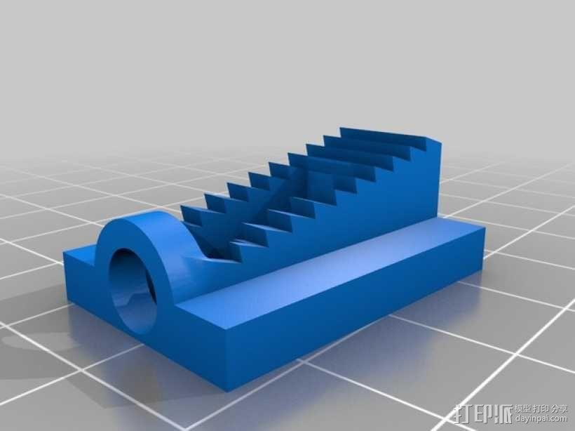 沙发套防卷夹 3D模型  图3