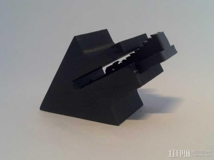 沙发套防卷夹 3D模型  图1