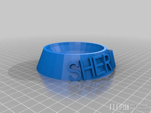 圆形宠物餐盆 3D模型  图2