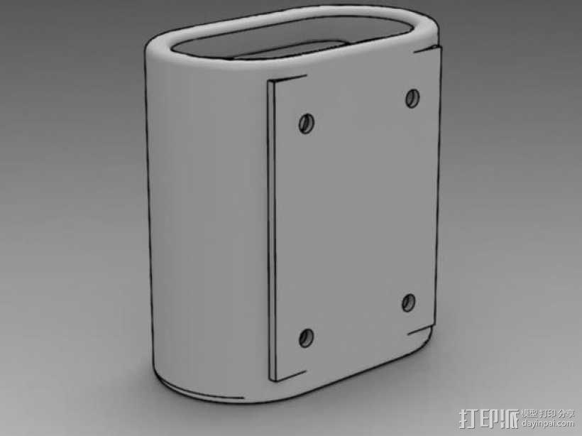 壁挂式遥控开关架 3D模型  图3