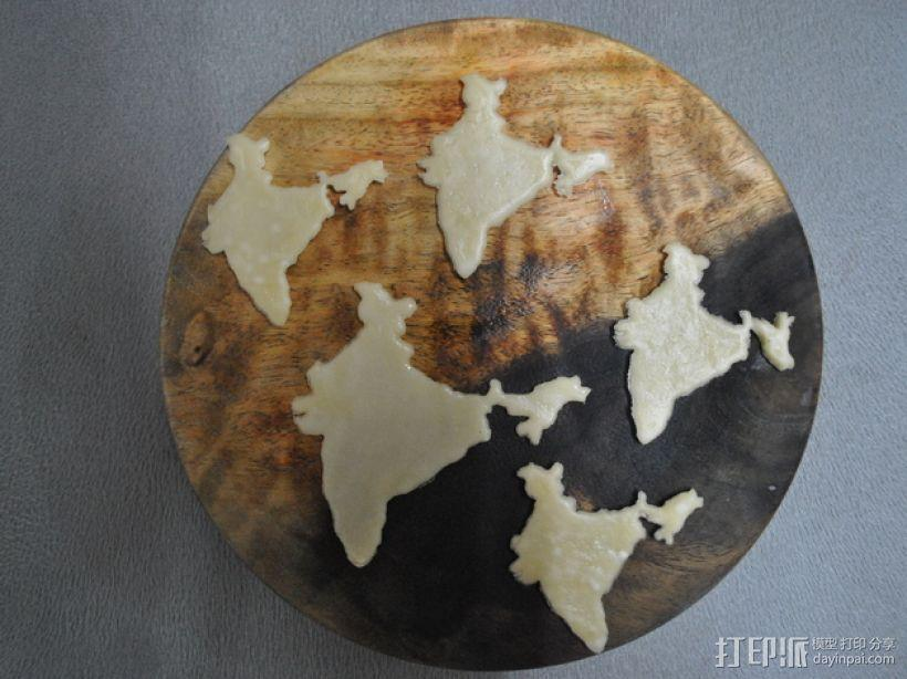 印度地图形饼干模具切割刀 3D模型  图1