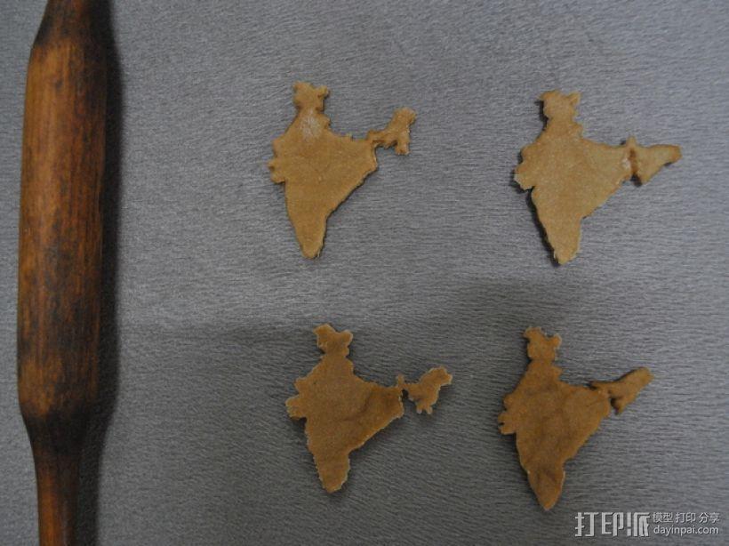 印度地图形饼干模具切割刀 3D模型  图4