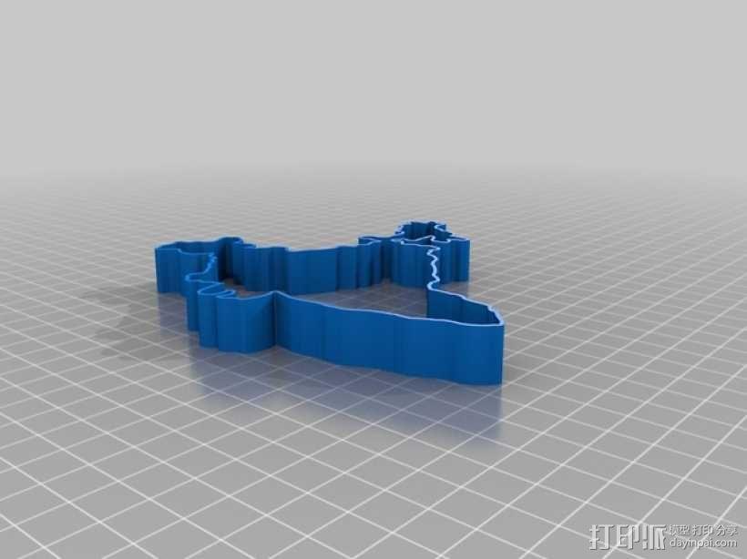 印度地图形饼干模具切割刀 3D模型  图6