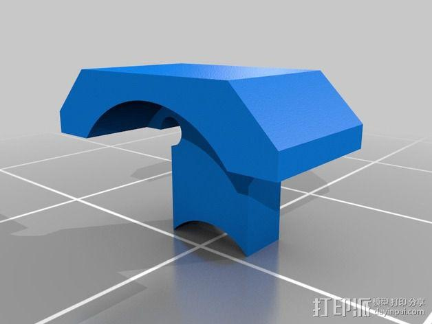 Roomba机器人转轮接口 3D模型  图2