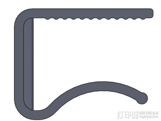 桌布夹 3D模型  图6