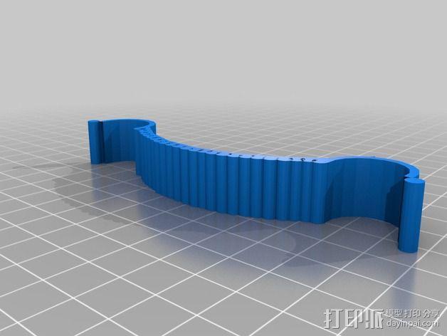 宜家红酒架连接装置 3D模型  图2