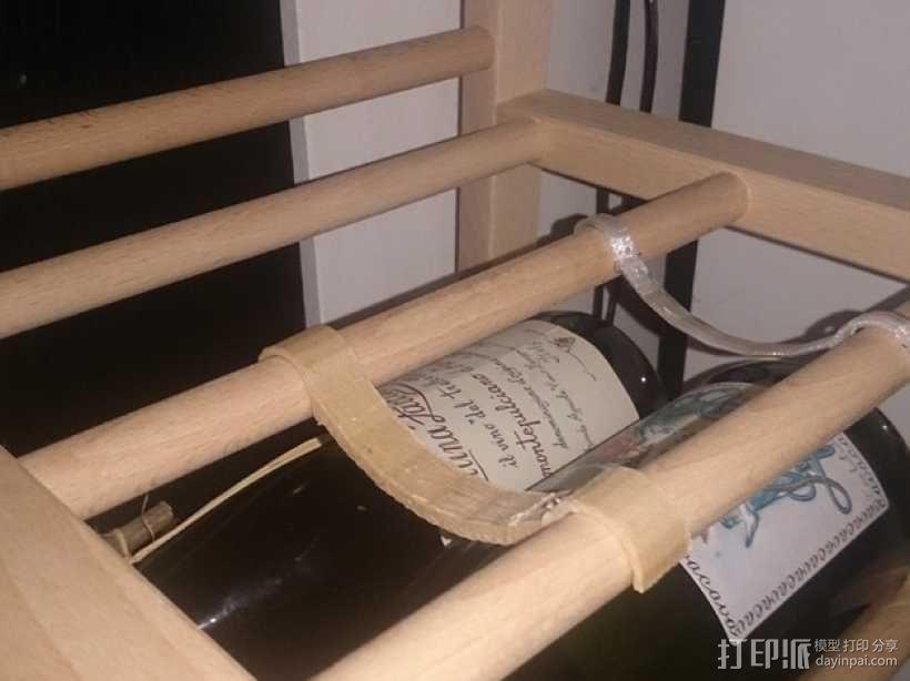 宜家红酒架连接装置 3D模型  图1