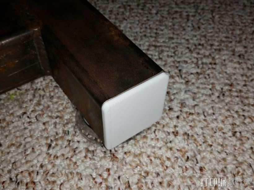 方形游戏椅腿端盖 3D模型  图1