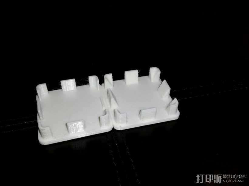 方形游戏椅腿端盖 3D模型  图4