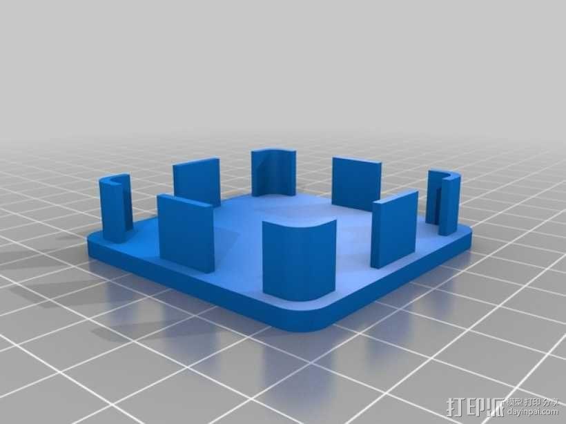方形游戏椅腿端盖 3D模型  图3