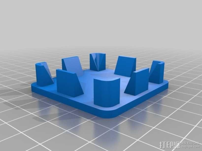 方形游戏椅腿端盖 3D模型  图2