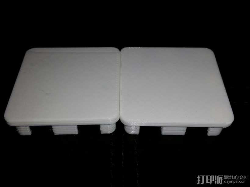 方形游戏椅腿端盖 3D模型  图6