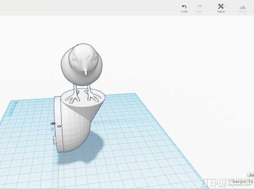鹪鹩小夜灯 3D模型  图3