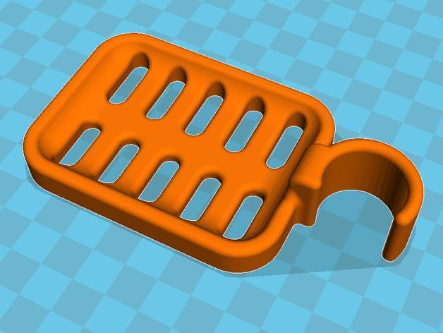 壁挂式肥皂架 3D模型  图1
