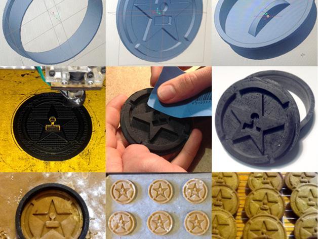 《Achievement Hunter》游戏标志饼干模具切割刀 3D模型  图6