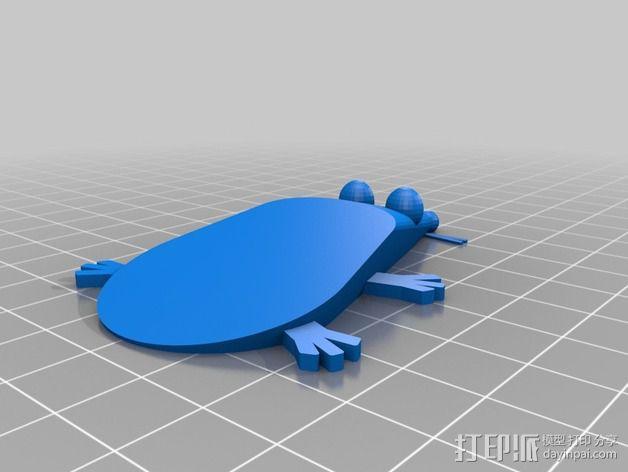 参数化老鼠形门档 3D模型  图2