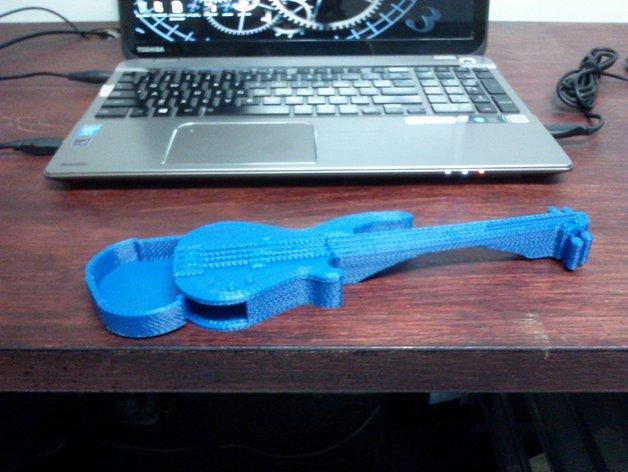 吉他形小盒 3D模型  图6