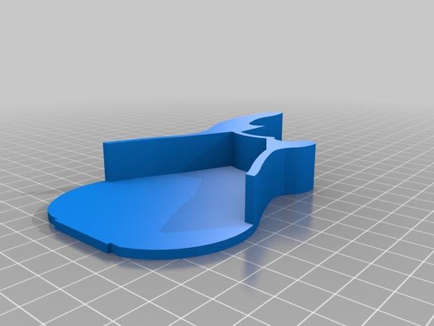 吉他形小盒 3D模型  图5