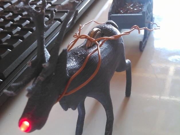 麋鹿雪橇形LED灯 3D模型  图3