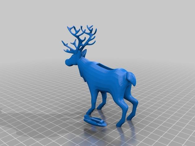 麋鹿雪橇形LED灯 3D模型  图2